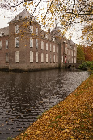 Castle Heeze in autumn atmosphere in the Dutch province Noord-Brabant