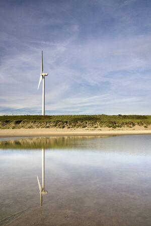 Windmills on the Maasvlakte beach
