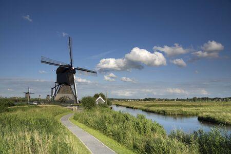 Museum windmill Blokweer 版權商用圖片