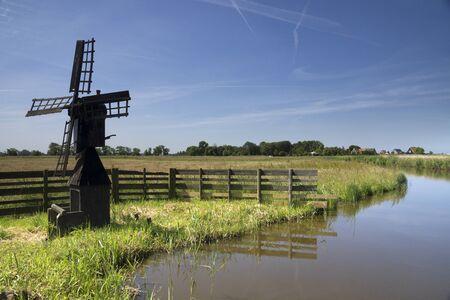 Small windmill Grootschermer 版權商用圖片