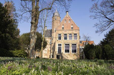 Historic building in Franeker 版權商用圖片