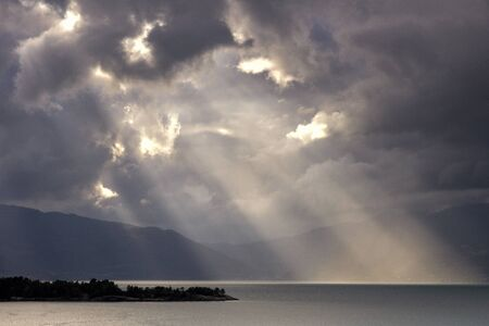 Turbulent sky Hardangerfjord
