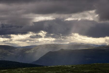 View over the Dovre mountains from the Grimsadlen valley