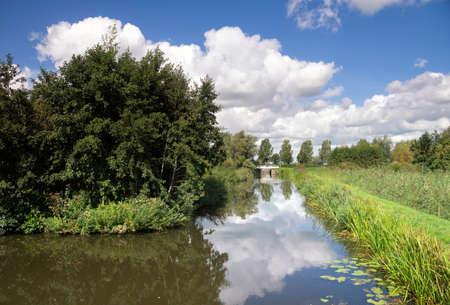 Moat near the Wierickerschans Stock Photo