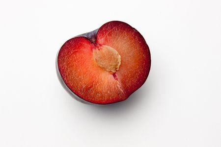 halved: halved prune with stone