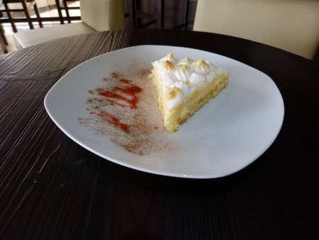 lemon pie: Rebanada de pastel de lim�n