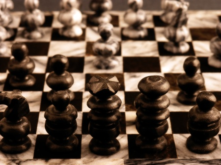 a marble chess board close up