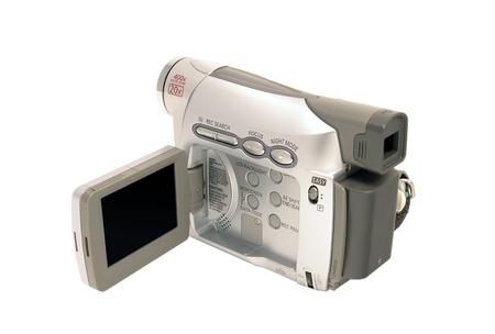 白い背景に分離したデジタル ビデオカメラ