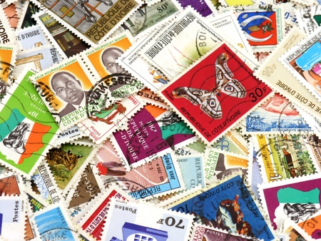 A collection of stamps from Cote-Divoire Editorial