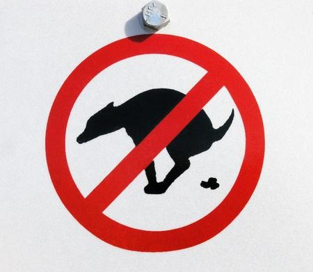 ordenanza: Un letrero que dice sin residuos animales domésticos