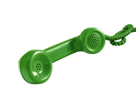 A retro telephone receiver from an old rotary phone