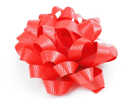 A holiday bow isolated on a white background