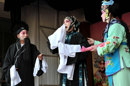 play acting: In an opera