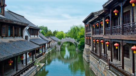 Tai er Zhuang ancient town scenery