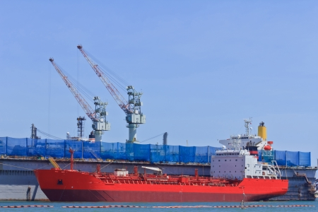 Ship during construction works in a shipyard Stock Photo - 16844944