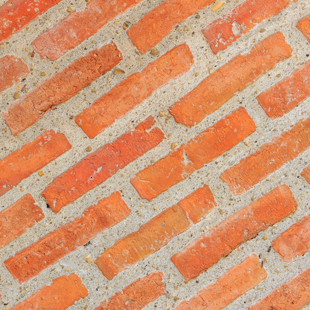 protect home: Red brick wall for protect home. Stock Photo