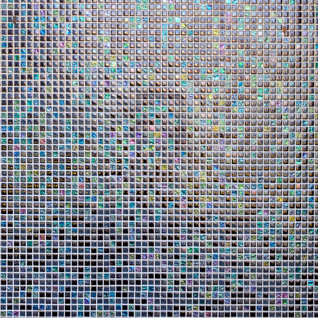 Dark colorful small mosaic tiles for background. Standard-Bild