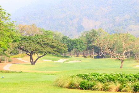 Beautiful landscape golf course at Thailand.