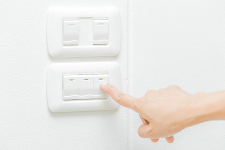 Use right hand turn on electronic light switch.