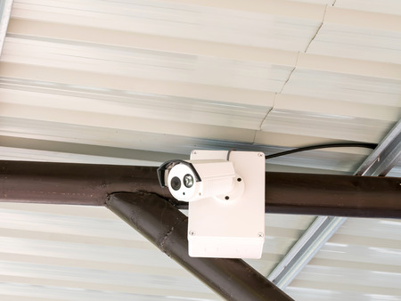 CCTV System security camera in home.