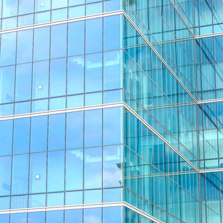 Exterior of building with mirror contemporary.