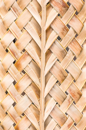 Handmade weave tracery from leaves coconut dry.