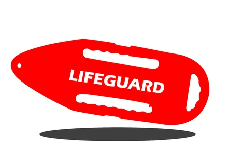 float: A Vector illustration of a lifeguard buoy