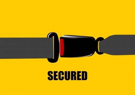 cinturon seguridad: Una ilustraci�n vectorial de la hebilla del cintur�n de seguridad Vectores