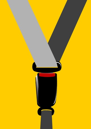 A Vector illustration of seat belt buckle