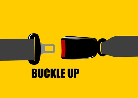 seat belt: A Vector illustration of seat belt buckle