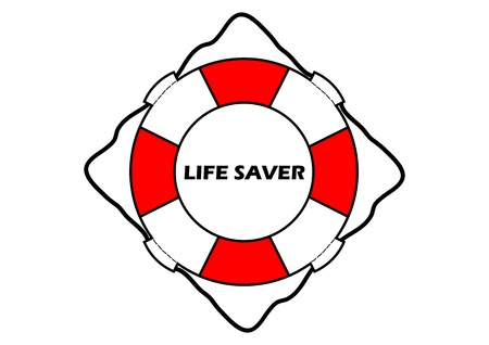 A Vector illustration of a life saver Vector