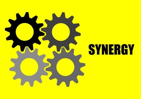 synergie: Ein Vektor-Illustration von 4 G�nge Synergie Illustration
