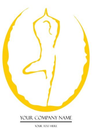 A V ector illustration of a man doing yoga Illustration