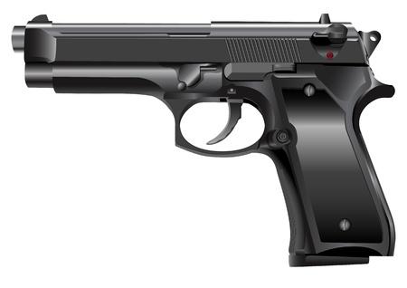 gatillo: Una ilustración de una pistola o una pistola Vectores