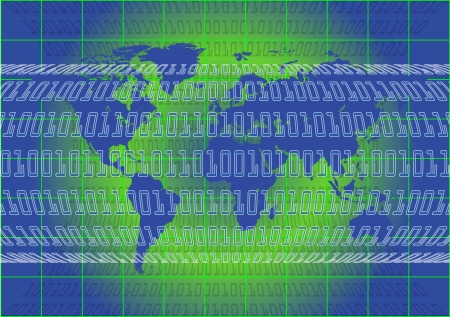 An illustration of Binary World 2 Stock Vector - 12721049