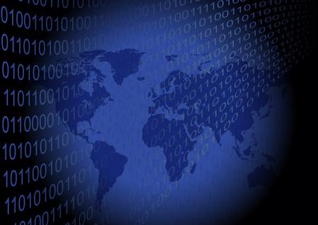 An illustration of Binary World Stock Vector - 12721022