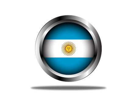 buenos: A Stock  illustration of Argentina Flag Button