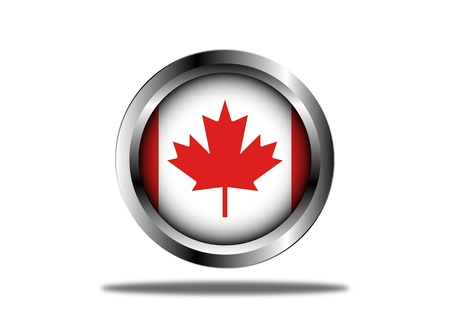 A Stock  illustration ofCanada Flag Button Illustration