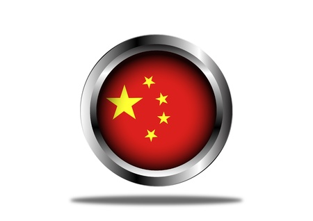 A Stock   of People Republic of Cina Flag Button