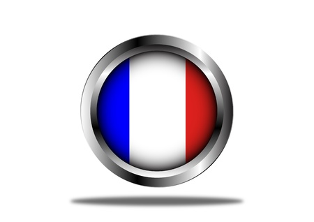 A Stock illustration of France Flag Button