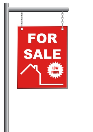 A Stock illustration of House Sale Sign Illustration