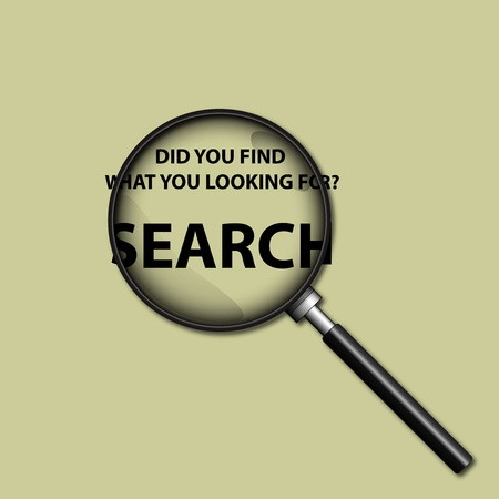 searcher: A Stock  illustration of Magnifier as Search tool icon