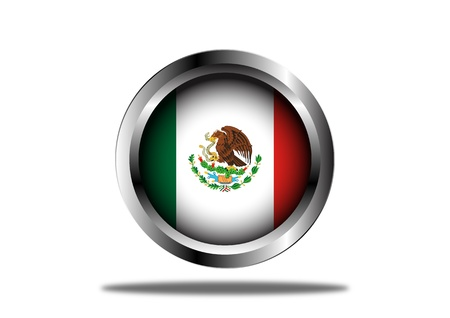 mexico flag: A Stock  illustration of Mexico Flag Button Illustration