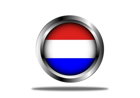 A Stock  illustration of Netherland Flag Button
