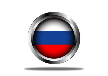 A Stock  illustration of Russian Flag Button Vector