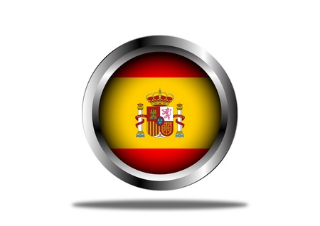 A Stock  illustration of Spain Flag Button Stock Vector - 12849615
