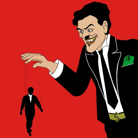 dominate: A Stock  illustration of A Tycoon can rules over businesman