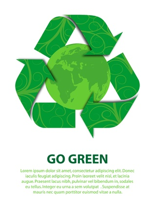 conserved: A Stock Vector illustration concept of Go Green to save our earth Illustration