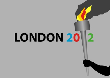 A Stock illustration of London 2012, can be use for gimmicks, or posters