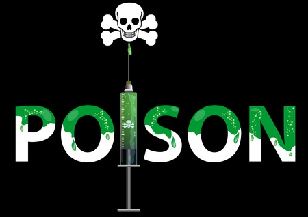 poisoned: A Stock illustration Word of Poison
